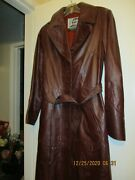 Chocolate Colored Leather Suburban Heritage Womens Leather Jacket Size 8