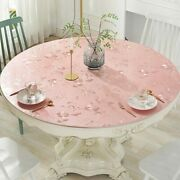 Pvc Tablecloth Waterproof Round Table Cover Dining Table Mat Home Decoration