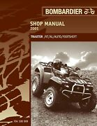 2001 Bombardier Traxter 500 Auto, Footshift, Xl And Xt Technical Workshop Manual