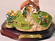 Wdcc Enchanted Places - 3 Little Pigs Set Of 3 Cottages - Boxes And Coas