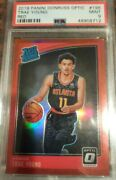 Trae Young 2018-19 Donruss Optic Red Holo Rookie Rc /99 - Psa 9 - Only 1 Higher