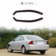 For 12-15 Honda Civic 2-door In-channel Rain Guard Vent Shade Window Visors