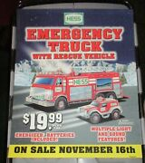 Hess 2005 Emergency Truck With Rescue Vehicle Regular Vertical Poster
