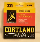 Cortland 333 Classic Series Fly Line - Floating - Wf5f