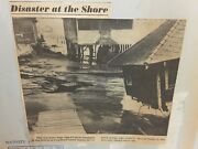 Vintage Scrapbook Norand039easter Storm March 1962 Nj Shore Newspaper Clippings