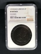 1797 Soho Great Britain 2 Pence. Ngc Xf Details.