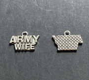 5 Army Wife Charms Antique Diy Jewelry Charm Buy 4 Get 20 Off -73h