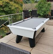 New Outdoor White Wolf Slate Pool Table   6 Or 7ft   Cry Wolf   Homepooltables