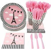 Disposable Dinnerware Set - Serves 24 - Party Supplies For Kids Birthdays Baby