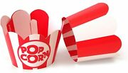 Popcorn Cupcake Wrappers - Red And White Striped - Cute Circus Party Supplies An