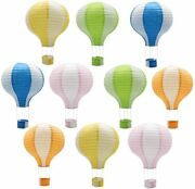 Hanging Hot Air Balloon Paper Lanterns Reusable Chinese Japanese Party Decoratio