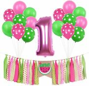 Watermelon Banner Kits For Baby Girls 1st Birthday Party Decorations Summer Pi
