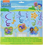 Bubble Guppies Foil Swirl Hanging Decorations Each