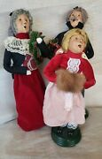 Lot Of 3 Coordinating Byers Choice - Red Family - 1997 And 1998 - Gorgeous