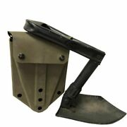 Gov Issue Ames Tri-fold Shovel And Cover, Military Surplus