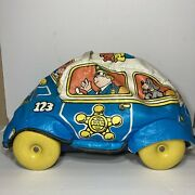 Antique Kid Toy Puffy Police Car Ride Corps. Made In Usa Chicago 1940-50