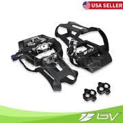 Bv Shimano Spd Bike Pedals 9/16 W Toe Clips Mountain Road Bike Cleats Included