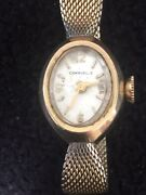 Vintage Caravelle Watch Women1950andrsquos Hand Winding10krgp Bezellovely Design Band