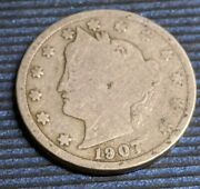 1907 P Liberty V Nickle Coin, Km 112