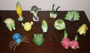 Home Grown By Enesco Collectible Lot 11 Intact 10 Damaged