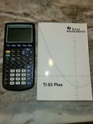 Texas Instruments Ti-83 Plus Graphing Calculators W/1 Manual Tested