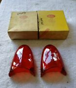 1954 Plymouth Tail Lamp Lenses Glo-brite New Pair 1