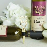 60 Pcs 5 Gold Two Hearts Wine Bottle Stoppers Wedding Party Favors Wholesale