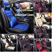 Pu Leather Car Seat Covers Standard 5-seat Auto Suv Truck Front And Back Full Set