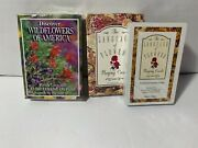 Set Of 2 New In Package Packs Of Flower Playing Cards -complete And Sealed W/boxes