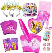 Disney Princess Party Supplies Ultimate Set -- Party Favors, Birthday Party Deco