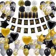 New Years Eve Party Supplies 2020 Decorations Kit, Gold White And Black Balloons
