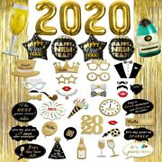 New Years Eve Party Supplies 2020, Foil Balloon Decorations Set, Photo Booth Pro