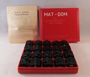 Vintage Austrian Mat-dom Math Game Bakelite Box And Game Pieces