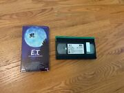 E.t. The Extra-terrestrial Vhs. Rare Collectible Black And Green Tape Original