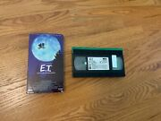 E.t. The Extra-terrestrial Vhs. Rare Collectible Black And Green Tape, Original