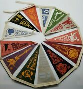 Nfc Nfl Mini Pennant Set Of 13 Circa Early 1970and039s