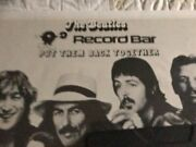 Verified Original Put The Beatles Back Together Again The Record Bar Poster Appl