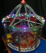1950and039s Erector Merry-go-round And Parachute Jump 10 1/2 Ac Gilbert - Built Lighted