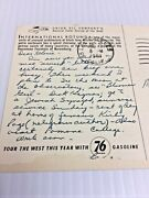 """1950's """" Union 76 Gasoline """" Gas Station Post Card, From Ca . Union Oil Company"""
