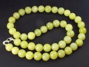 Rare Healerite Necklace From Usa - 19 - 10mm Round Beads