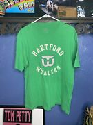 Hartford Whalers T Shirt Green Mens Small Ccm Preowned Nhl