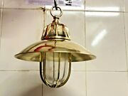 Hanging Ceiling Passage Way Bulkhead Nautical Brass New Light With Shade 10 Pcs