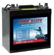 Absolute Battery Ux12550 Group 22nf Marine Combo Post Terminal Sla Agm Battery