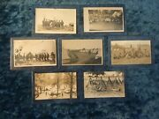 Vintage Wwi Postcard Lot - Real Photo - Army Tents Marching Mess - Free Ship