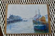 Painting Of Provincetown Wharf By Waj Claus