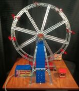 1952 Erector Ferris Wheel 8 1/2 Ac Gilbert - Fully Built Complete Vintage Works
