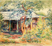 20 Off Louisiana Crayon Painting Anne Wells Munger Bayou Cabin 9x10