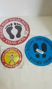 Social Distancing Decal Signs | Lot Of 28