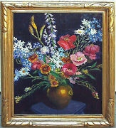 20 Off Taos Nm Painting Blanche Grant And039july Flowersand039 1945 24 X 20