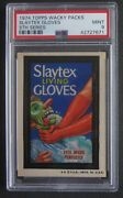 1974 Topps Wacky Packages Slaytex 5th Series 5 Psa 9 Mint
